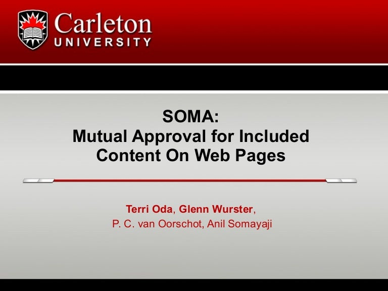 SOMA: Mutual Approval for Included Content On Web Pages