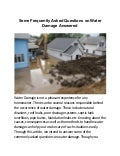 Some Frequently Asked Questions on Water Damage Answered