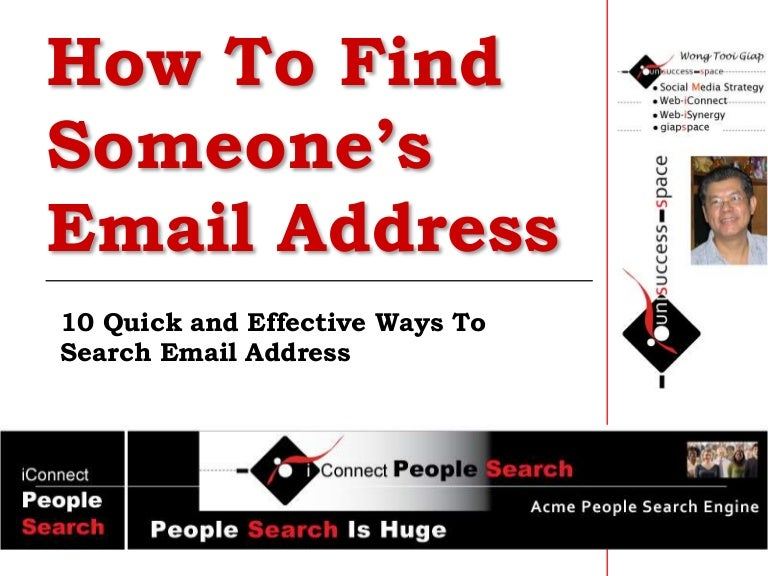 how to find someone e-mail address for free