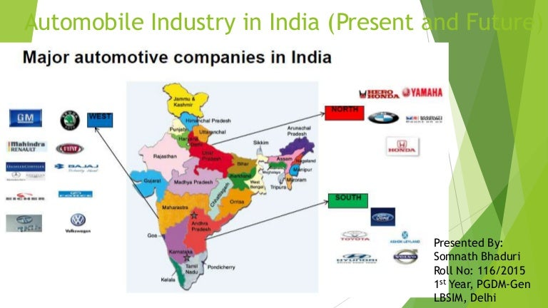 Automobile Industry Of India Present Amp Future