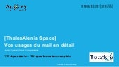 [Fr] Usage du mail au travail Sondage visionary marketing thalesalenia space