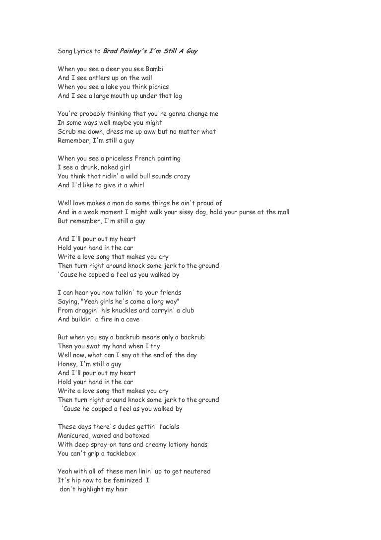 ad0ff8dd45 Song lyrics to brad paisley