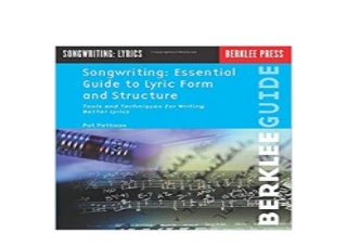 ~[EBOOK_DOWNLOAD]~ Songwriting Essential Guide to Lyric Form and Structure Tools and Techniques for Writing Better Lyrics Songwriting Guides 'Read_online'