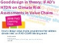 Good design in theory: IFAD's How To Do Note on Climate Risk Assessments in Value Chains