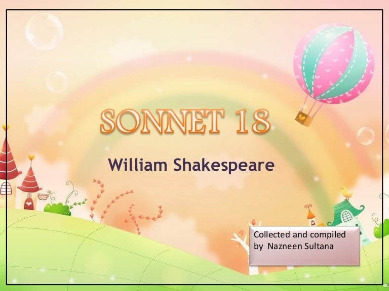 sonnet 18 theme of immortality