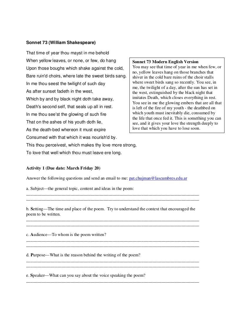 sonnet essay essay sonnet video essay sonnet essay pics  essay sonnet 73 essay sonnet 73 video essay