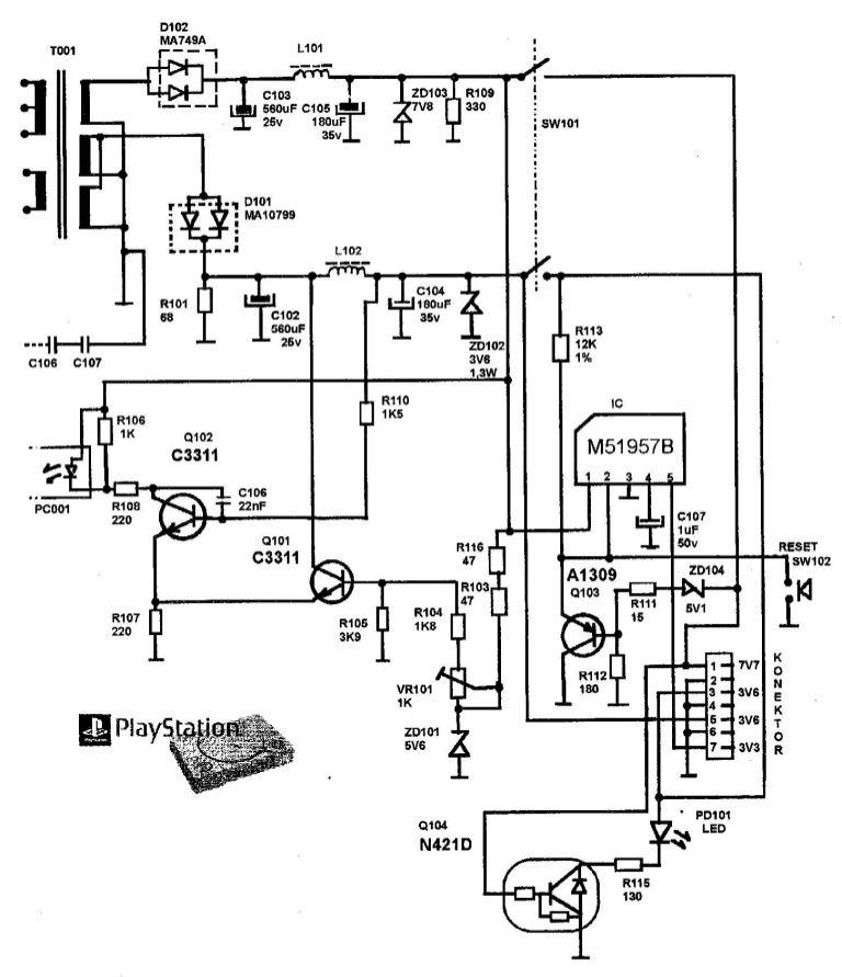 playstation 1 circuit diagram data wiring diagram Xbox 360 Console Diagram