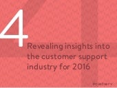 Four Revealing Insights into the Customer Support Industry for 2016