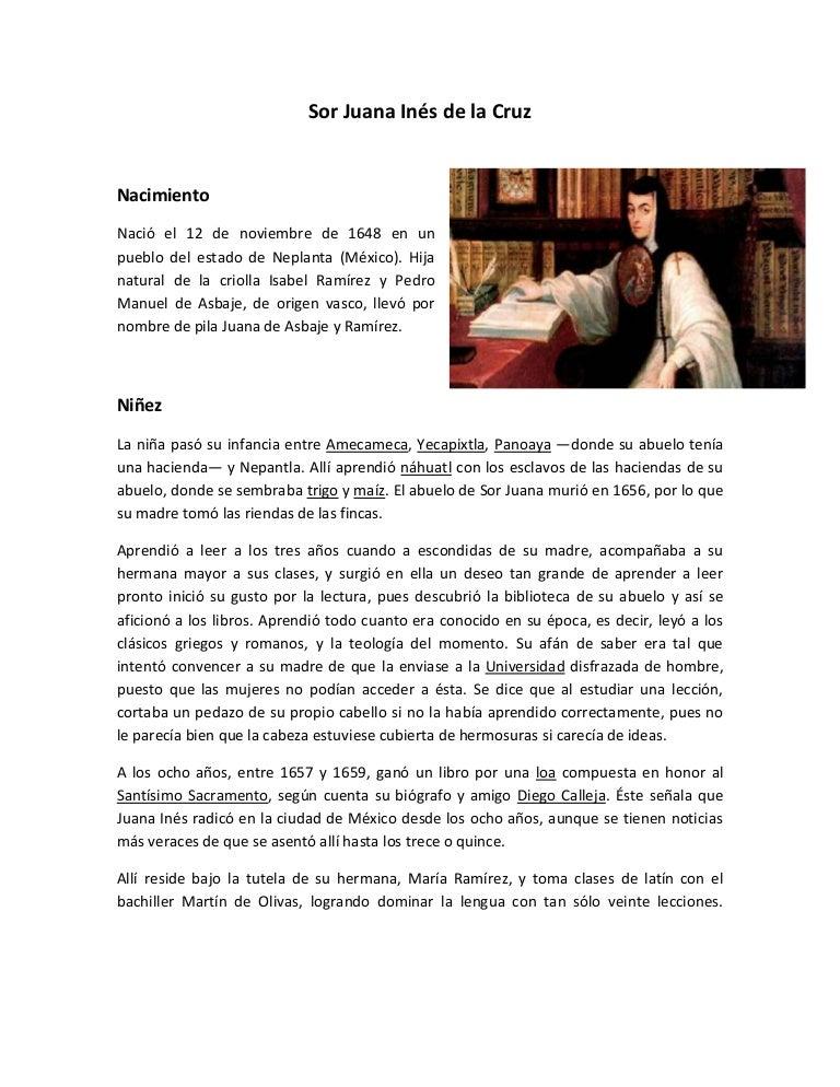 Sor Juana Inés De La Cruz Niñez Y Adolescencia