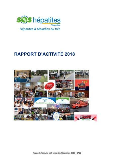 SOS Hépatites Rapport d'activité 2018