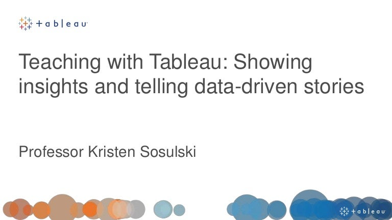 Teaching with Tableau
