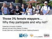 Those 3% female mappers…  Why they participate and why not?