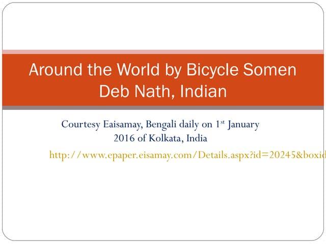 Soumen debnath, around the world