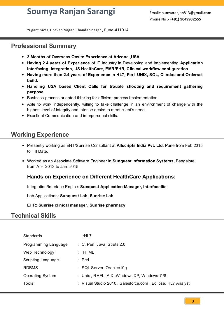 soumya exp resume