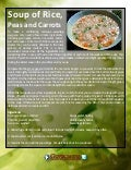 Soup of rice peas and carrots