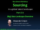 Sourcing talent a key recruiting differentiator part 2 - the (Big) Data Landscape