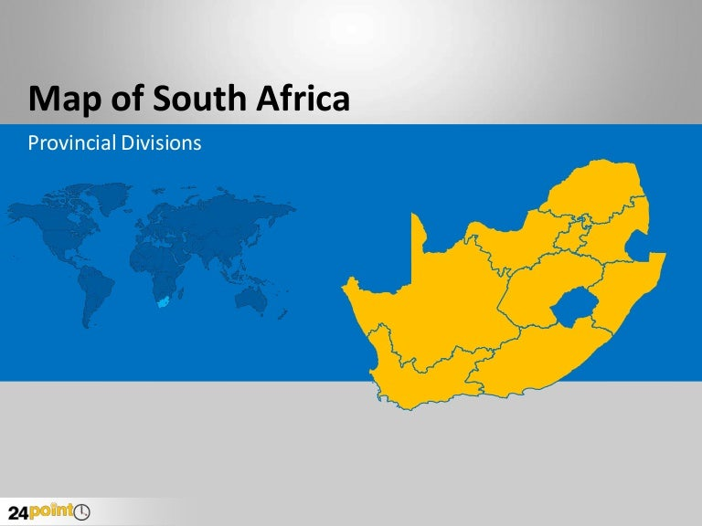 South africa editable ppt map toneelgroepblik Image collections