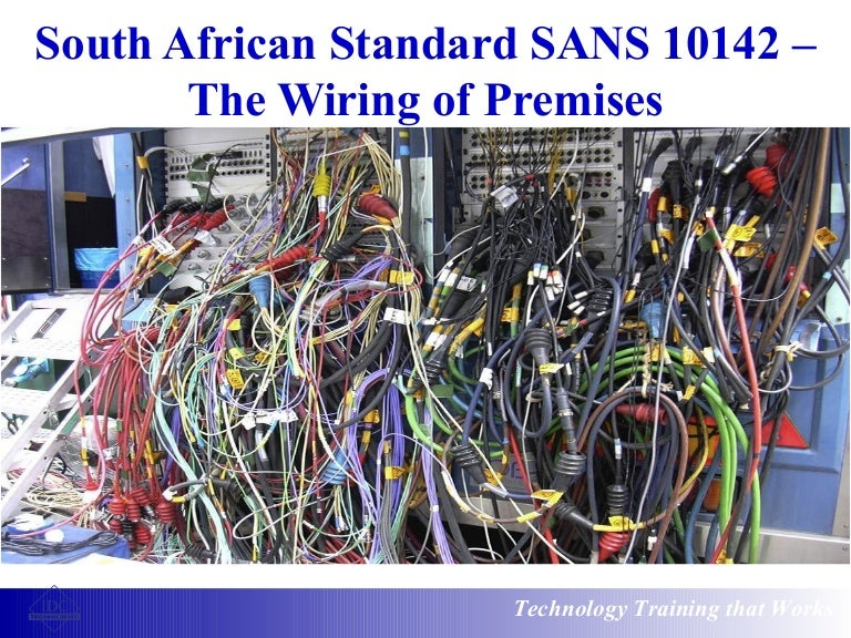 south african standard sans 10142 the wiring of premises rh slideshare net domestic wiring regulations south africa House Wiring Diagram Examples