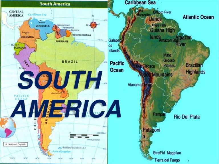 Tip Of South America Map.South America