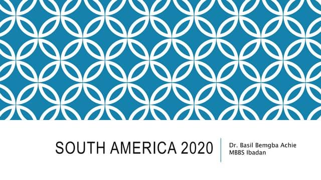 South America 2020
