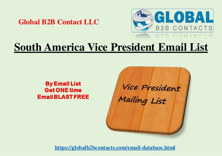 South america vice president email list