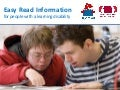 Easy Read guidelines | Inclusive communications | South West Networking Group | 10 November 2017
