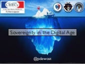 Sovereignty in the digital age (opening keynote at CHECy) by Philippe Dewost