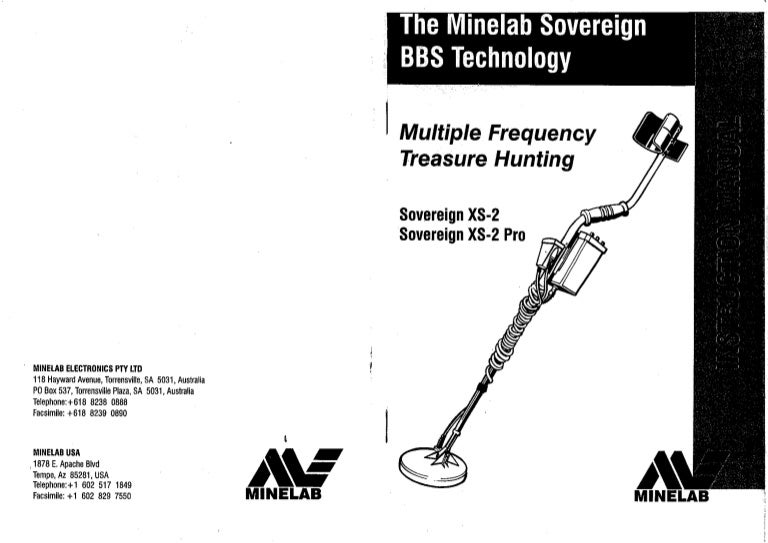 instruction manual minelab sovereign xs 2 xs 2 pro metal detector e rh slideshare net Helm Auto Manuals Manual vs Auto