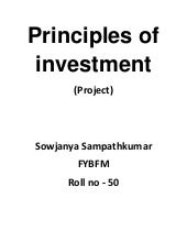 Principle Of Investment