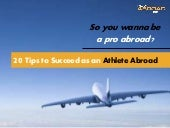 So you wanna be a pro abroad