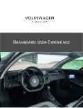 Dashboard UX Design - Whitepaper for Volkswagen AG