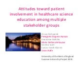 Attitudes toward patient involvement in healthcare teaching
