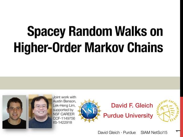 Spacey random walks and higher order Markov chains