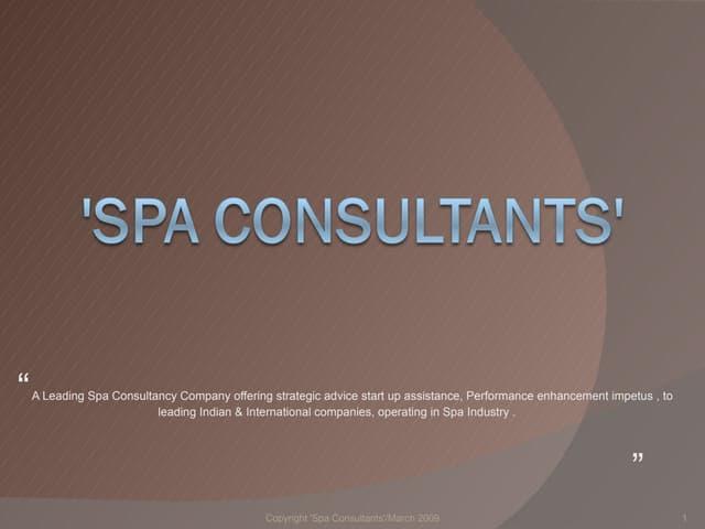 Spa Consultants Profile