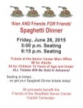 Spaghetti dinner to benefit the Friends of the Westfield Senior Center's capital campaign