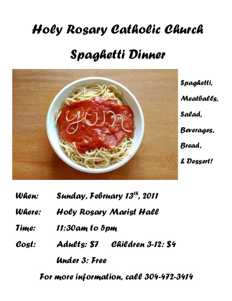 Spaghetti Dinner Flyer