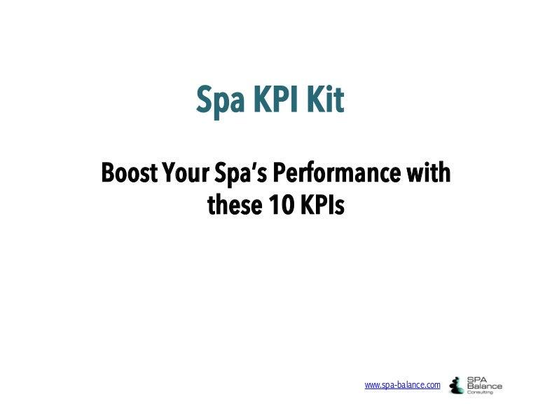 The Essential Spa KPI Kit