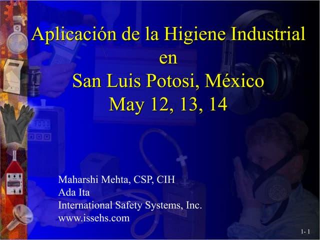 Spanish- Applied Industrial Hygiene