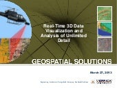Real-Time 3D Data Visualization and Analysis of Unlimited Detail