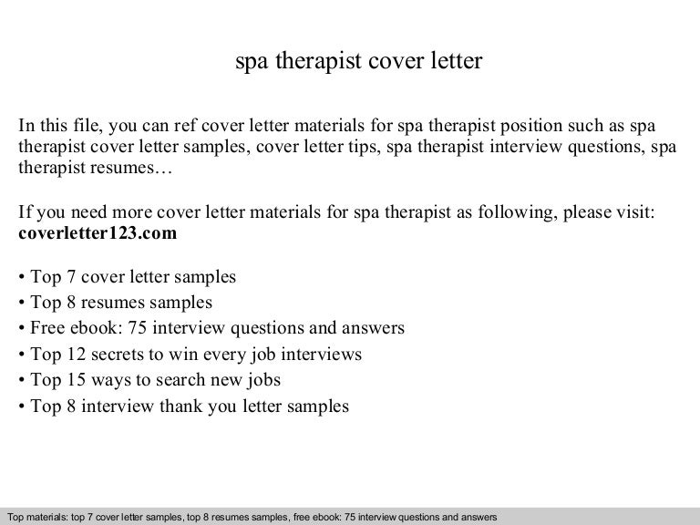 cover letter for massage therapist position
