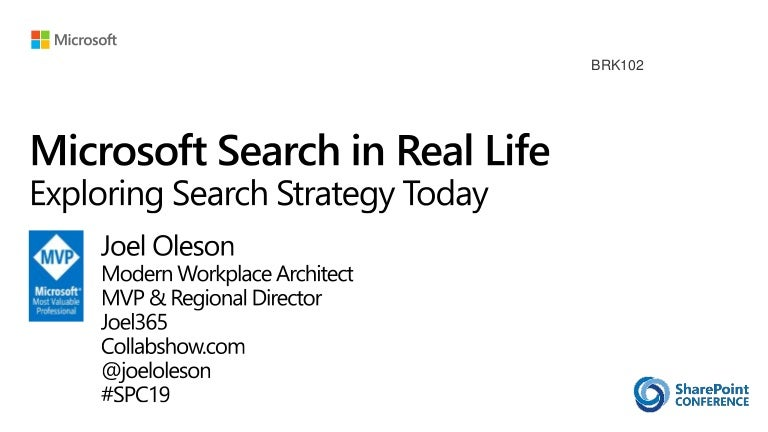 Microsoft Search Strategy Today - Exploring Office 365