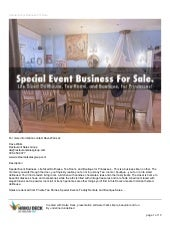 Special event business for sale presentation pdf.