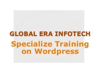 Specialize training on wordpress