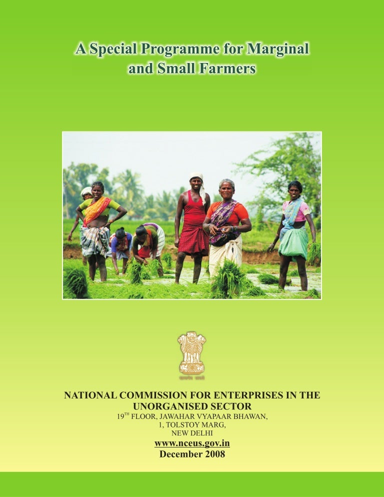 A Special Programme for Marginal and Small Farmers