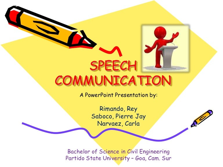 A speech communication class at a college