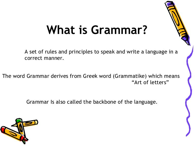 What Is Grammar In English