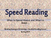 Speed reading and when to put on the brakes