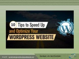 WordPress Speed Optimization - How to Speed Up WordPress Site