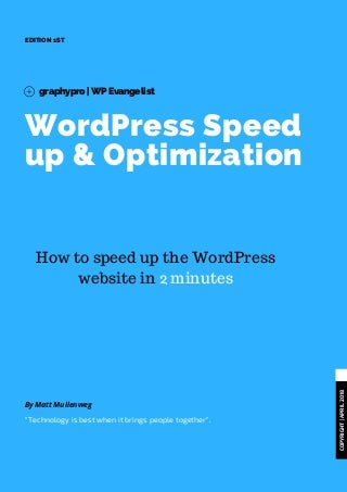 Speed up and Optimize WordPress Website in 2 minutes