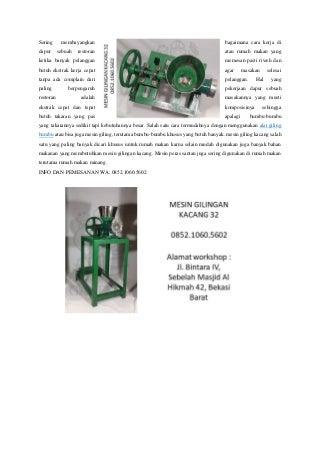 Spesialis wa 0852.1060.5602 industri cara membuat mesin giling daging gahesha